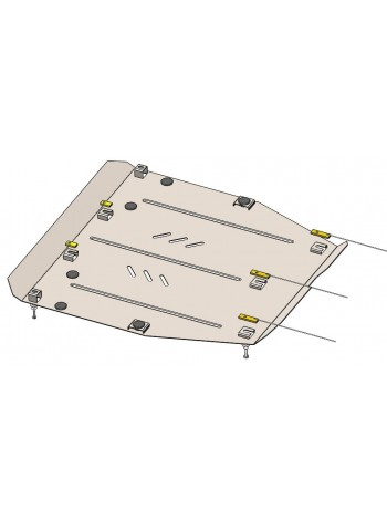 Защита двигателя, КПП для авто Acura ILX 2012-2019 V-все ( TM Kolchuga ) Стандарт