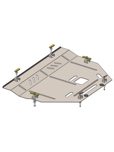 Защита двигателя, КПП, радиатора для авто Ford Edge 2016- V- 2,0D кроме 3,2 USA ( TM Kolchuga ) ZiPoFlex