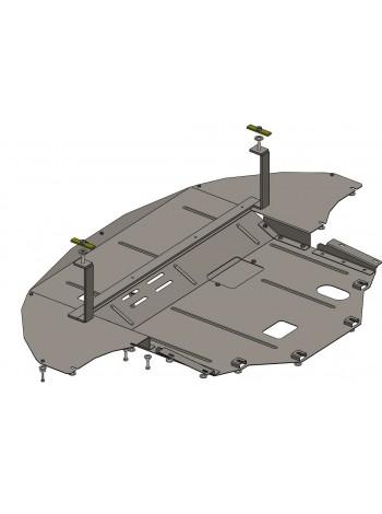 Защита двигателя, КПП, радиатора для авто Hyundai Sonata LF 2014- V-1,6; 2,0; 2,4; (МКПП, АКПП, Hybrid не устанавливается) ( TM Kolchuga ) ZiPoFlex