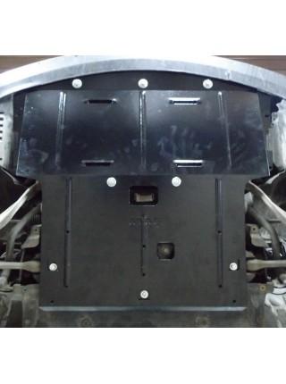 Защита двигателя, радиатора для авто BMW 5-й сериї E60 E61 2003-2010 V-2,3 2,5 3,0и 4х4 АКПП ( TM Kolchuga ) ZiPoFlex
