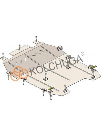 Защита двигателя, КПП, радиатора для авто Peugeot 3008 2016- V-2.0 BlueHDi (АКПП) ( TM Kolchuga ) ZiPoFlex
