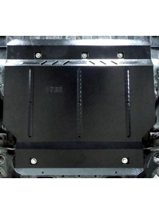 Защита двигателя, КПП, радиатора для авто Honda HR-V 2013- V-1.5i; 1.8 i-VTEC; 1.6 i-DTEC; (АКПП, устанавливается на USA) ( TM Kolchuga ) ZiPoFlex