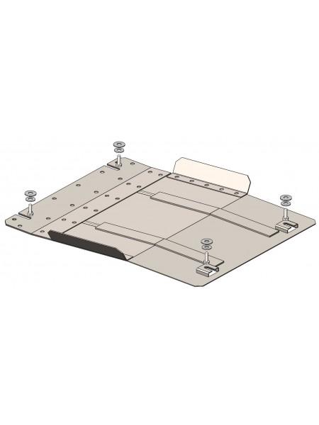 Защита защита КПП для авто Mitsubishi L200 2015- V-2,4TDI ( TM Kolchuga ) Стандарт