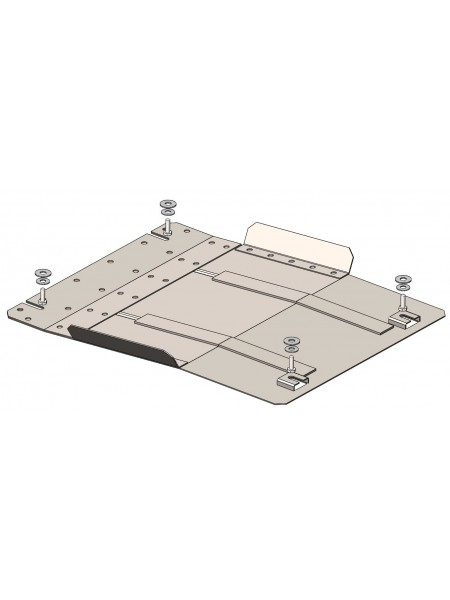 Защита КПП для авто Fiat Fullback 2015- V-2,4TDI ( TM Kolchuga ) ZiPoFlex