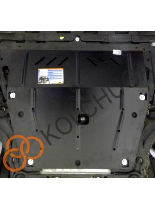 Защита двигателя, КПП для авто Renault Clio 2012- V-0,9 кроме Российской сборки ( TM Kolchuga ) ZiPoFlex