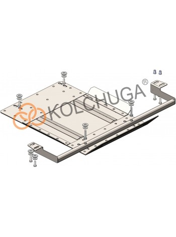 Защита защита роздат. коробки для авто Mitsubishi L200 2015- V-2,4TDI ( TM Kolchuga ) ZiPoFlex