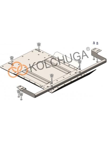 Защита защита роздат. коробки для авто Mitsubishi L200 2015- V-2,4TDI ( TM Kolchuga ) Стандарт
