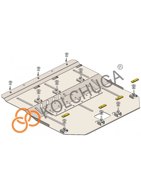 Защита двигателя, КПП, радиатора для авто Mini Cooper (F56) 2014- V-1,5i (АКПП) ( TM Kolchuga ) ZiPoFlex