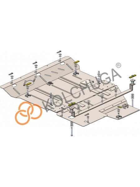Защита двигателя, КПП, радиатора для авто Mercedes-Benz Viano D (W447) 2014- V-2,2 СDI (только 4х4, АКПП) ( TM Kolchuga ) Стандарт