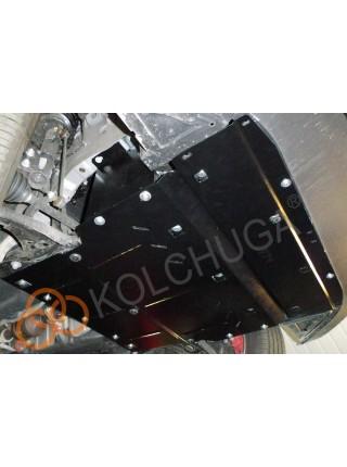 Защита двигателя, радиатора, КПП для авто Jac S2 2015- V-1,5и ( TM Kolchuga ) ZiPoFlex