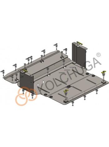 Защита двигателя, радиатора, КПП для авто Jac S2 2015- V-1,5і ( TM Kolchuga ) Стандарт