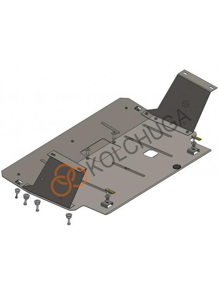 Защита двигателя, КПП для авто Renault Trafic 2014- V-1,6 CDТI ( TM Kolchuga ) ZiPoFlex