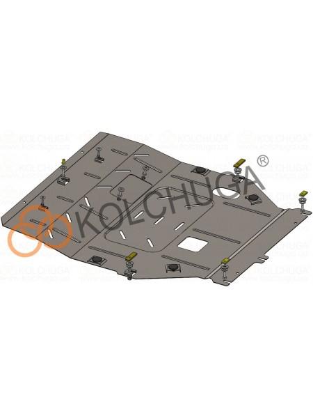 Защита двигателя, КПП, радиатора для авто Mitsubishi Outlander 2015- V-2,4i (HYBRID, сборка USA) ( TM Kolchuga ) ZiPoFlex