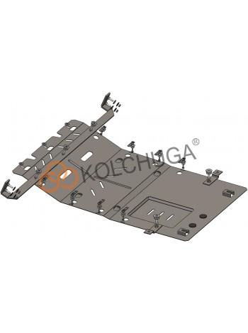 Защита двигателя, КПП, радиатора для авто Peugeot Boxer III 2014- V-2.2 Hdi; 2,0; ( TM Kolchuga ) ZiPoFlex