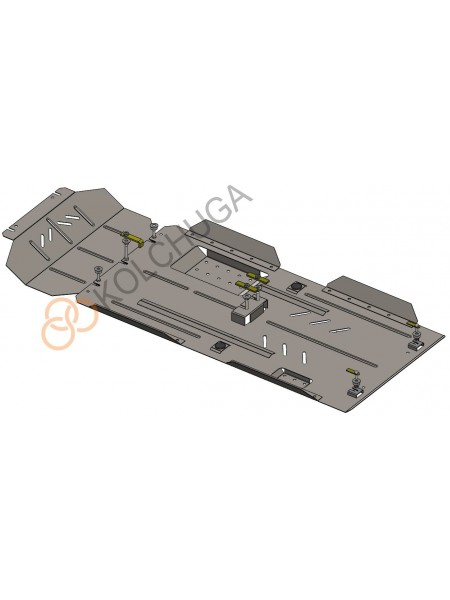 Защита двигателя, КПП, радиатора, РКПП, передний мост для авто Great Wall Wingle5 2011- V-2,0 D с фильтром сажи Euro 5 МКПП только дизель ( TM Kolchuga ) ZiPoFlex