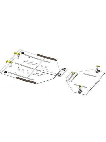 Защита раздат. коробки, заднего моста для авто Audi Q7 2005-2015 V-3.0 D; 3,6; 4.2 quattro; (АКПП) ( TM Kolchuga ) Стандарт