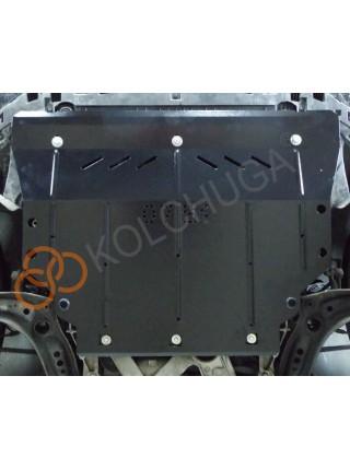 Защита двигателя, КПП, радиатора для авто Audi A3 2012- V-1,8 TFSI;2,0 TFSI;1,6TDI; (4х4, сборка USA, EU) ( TM Kolchuga ) ZiPoFlex