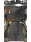 Защита двигателя, КПП, радиатора для авто Toyota Tundra 2014- V-5,7i; (АКПП, 3мм) ( TM Kolchuga ) Стандарт