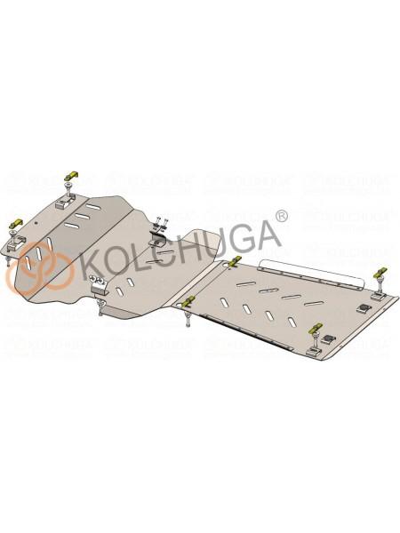 Защита двигателя, КПП, радиатора для авто Toyota Tundra 2014- V-5,7i; (АКПП, 3мм) ( TM Kolchuga ) ZiPoFlex