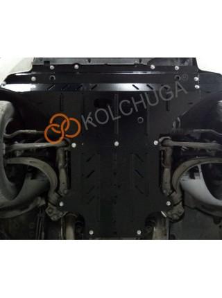 Защита двигателя, КПП, радиатора для авто Audi A5 В8 2011-2016 V-2.0 TDI; 2.0 TFSi (только электроусилитель) ( TM Kolchuga ) Стандарт