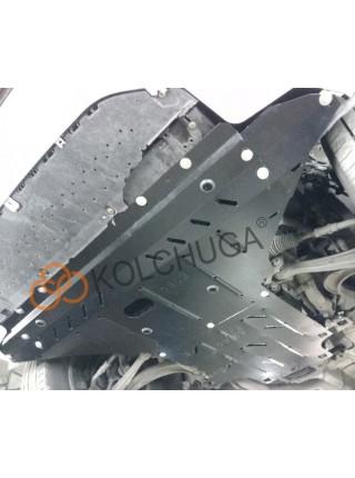 Защита двигателя, КПП, радиатора для авто Audi A5 В8 2011-2016 V-2.0 TDI, 2.0 TFSi только электроусилитель ( TM Kolchuga ) ZiPoFlex