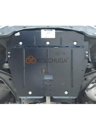 Защита двигателя, КПП, радиатора для авто Mini Cooper (R56) 2006-2013 V-1,6i; 1,6TDI; (АКПП) ( TM Kolchuga ) Стандарт