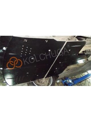 Защита двигателя, КПП для авто Porsche Panamera 2011-2016 V-3.0 TDI (АКПП, задний привод) ( TM Kolchuga ) ZiPoFlex