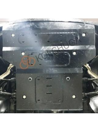Защита двигателя, радиатора, рулевые рейки для авто Mercedes-Benz W 211 E270 2002-2008 V-только 2,7CDi (АКПП, задний привод) ( TM Kolchuga ) ZiPoFlex