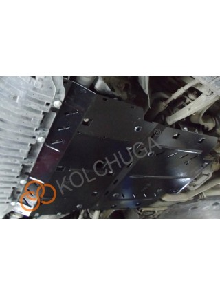 Защита двигателя, КПП, радиатора для авто Audi A8 D4 L 2010-2017 V-3,0TDI; 3,0TFSi; (АКПП) ( TM Kolchuga ) ZiPoFlex