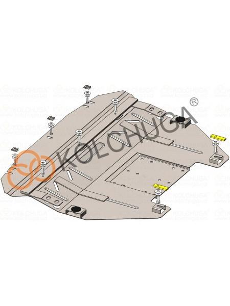 Защита двигателя, КПП, радиатора для авто Mini Cooper Countryman (R60) 2011-2016 V-2,0D АКПП 4x4 ( TM Kolchuga ) ZiPoFlex