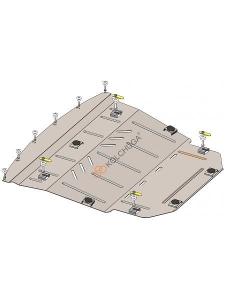Защита двигателя и КПП и радиатора для авто Nissan Qashqai J11 2017- V-все ( TM Kolchuga ) ZiPoFlex