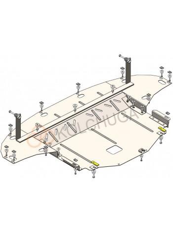 Защита двигателя, КПП, радиатора для авто Hyundai I-30 new ( 2020- ) V-1,5 ( TM Kolchuga ) Стандарт