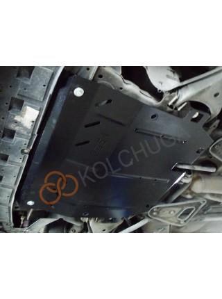 Защита двигателя, КПП, радиатора для авто Renault Twingo II 2007-2014 V-1,2i; 1,5D; (МКПП) ( TM Kolchuga ) ZiPoFlex