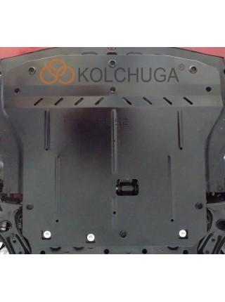 Защита двигателя, КПП, радиатора для авто Kia Rio V sedan 2017- V-1,6i (сборка Россия) ( TM Kolchuga ) ZiPoFlex