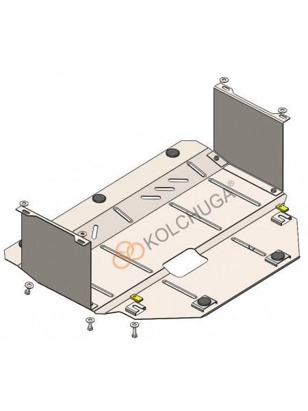 Защита двигателя, КПП, радиатора для авто Kia Picanto 2017- V-1,0; 1,2; ( TM Kolchuga ) ZiPoFlex