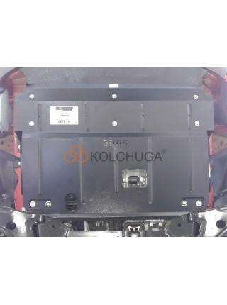 Защита двигателя, КПП, радиатора для авто Ford Transit Transit Custom 2016- V-2.0 TDCI ecoblue (двиг. JJ87712) МКПП VIN: WFOZXXTTGZJJ87712 ( TM Kolchuga ) ZiPoFlex