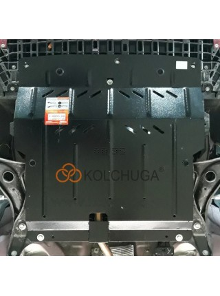 Защита двигателя, КПП, абсорбер для авто Citroen С1 2014- V-1,0 (робот) ( TM Kolchuga ) Стандарт