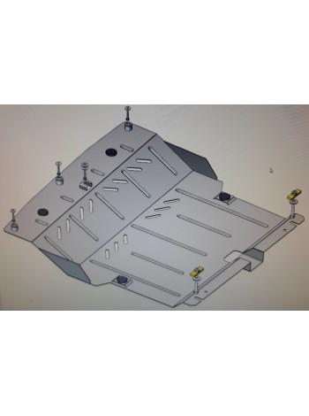 Защита двигателя, КПП, абсорбер для авто Toyota Aygo 2014- V-1,0 (робот) ( TM Kolchuga ) Стандарт
