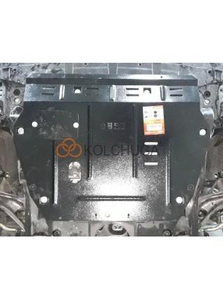 Защита двигателя, КПП для авто Honda Civic X 5D хетчбэк 2015- V-1,5T (сборка USA) ( TM Kolchuga ) ZiPoFlex