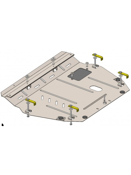 Защита двигателя, КПП для авто Honda Civic X 5D хетчбэк 2015- V-1,5T сборка USA АКПП ( TM Kolchuga ) Стандарт