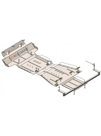 Защита двигателя, КПП, радиатора, РКПП, передний мост для авто Toyota Hilux 2015- V-2,4D (МКПП) ( TM Kolchuga ) Стандарт