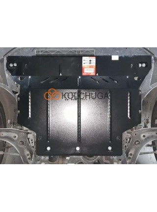 Защита двигателя, КПП, радиатора для авто Volkswagen Golf -7 2012-2018 V-1,8; 2,0GTI; (АКПП, МКПП, сборка USA) ( TM Kolchuga ) ZiPoFlex
