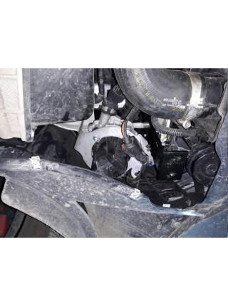 Защита двигателя, КПП, радиатора для авто Volkswagen Golf electric 2012-2018 V-все (АКПП, МКПП) ( TM Kolchuga ) ZiPoFlex