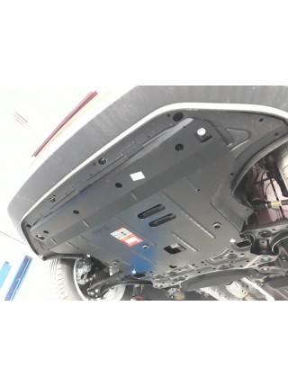 Защита двигателя, КПП, радиатора для авто Hyundai Kona 2017- V-1,0; 1,6;i (робот) ( TM Kolchuga ) ZiPoFlex