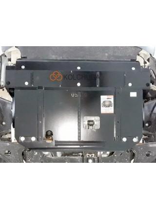 Защита двигателя, КПП, радиатора для авто Ford Tourneo Custom (пасажир) 2018- V-2.0TDCi ecoblue euro6 (МКПП, VIN: WFO3XXTTG3JR32314) ( TM Kolchuga ) ZiPoFlex