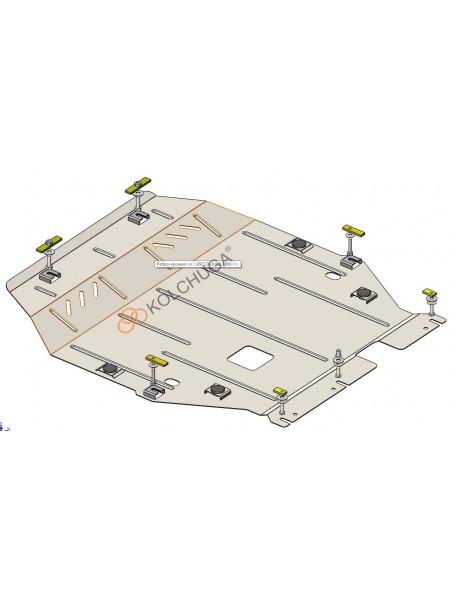 Защита двигателя, КПП для авто Mitsubishi Outlander 2012- V-3,0i MIVEC (сборка USA) ( TM Kolchuga ) ZiPoFlex