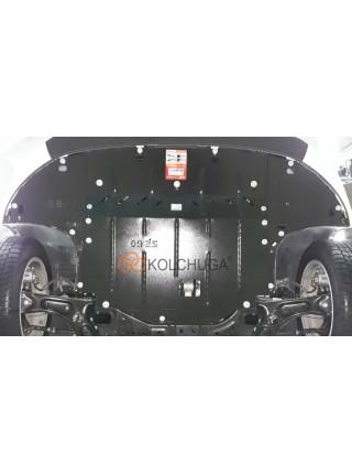 Защита двигателя, КПП, радиатора для авто Kia Ceed 2018- V-1,4GDI; 1,4Т; ( TM Kolchuga ) ZiPoFlex