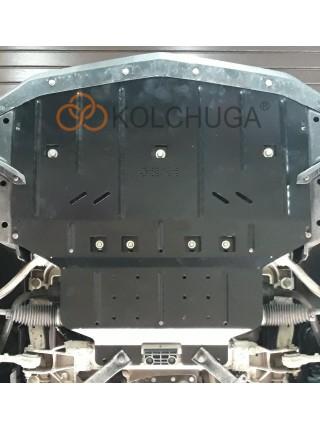 Защита двигателя и радиатора для авто Chevrolet Camaro VI 2015-2018 V-2,0i (АКПП) ( TM Kolchuga ) ZiPoFlex