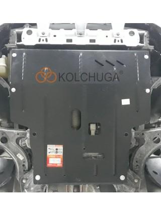 Защита двигателя, КПП для авто Faw B30 2015- V-1,6i (АКПП) ( TM Kolchuga ) ZiPoFlex