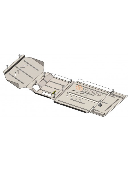 Защита двигателя, КПП, редуктора, раздатки для авто Ford Ranger 2019- V-2.0 EcoBlue TDCi ( TM Kolchuga ) ZiPoFlex